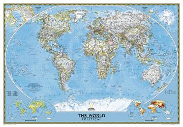 World, Classic, Enlarged and Sleeved by National Geographic Maps