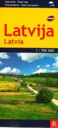 Latvia road map, laminated by Jana Seta