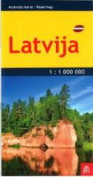 Latvia road map, pocket-size by Jana Seta