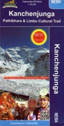 Kanchenjunga, Nepal Comprehensive Trekking Map by Himalayan MapHouse Pvt. Ltd