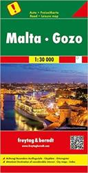 Malta and Gozo by Freytag und Berndt