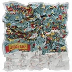 London, United Kingdom Junior Crumpled City Map by Palomar S.r.l.