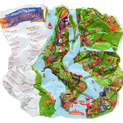 New York City, NY Junior Crumpled City Map by Palomar S.r.l.