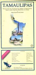Tamaulipas, Mexico, State and Major Cities Map by Ediciones Independencia