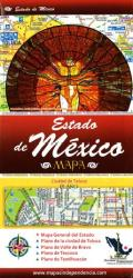 Estado de Mexico (Edomex), Mexico, State and Major Cities Map by Ediciones Independencia