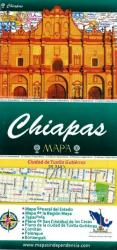Chiapas, Mexico, State and Major Cities Map by Ediciones Independencia