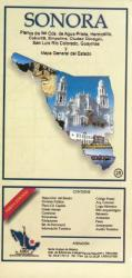 Sonora, Mexico, State and Major Cities Map by Ediciones Independencia