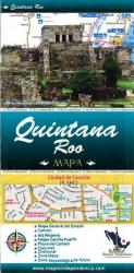 Quintana Roo, Mexico, State and Major Cities Map by Ediciones Independencia