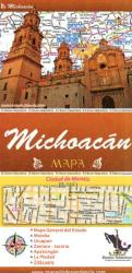 Michoacan, Mexico, State and Major Cities Map by Ediciones Independencia