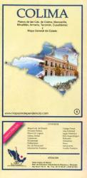 Colima, Mexico, State and Major Cities Map by Ediciones Independencia