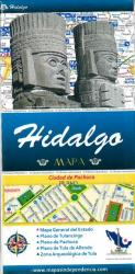 Hidalgo, Mexico, State and Major Cities Map by Ediciones Independencia