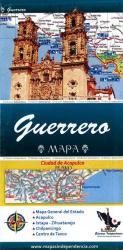 Guerrero, Mexico, State and Major Cities Map by Ediciones Independencia