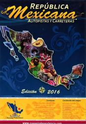 Mexico Wall Map, Roads and Freeways by Ediciones Independencia