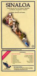 Sinaloa, Mexico, State and Major Cities Map by Ediciones Independencia