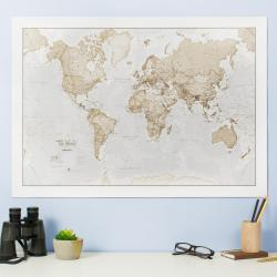 World as Art Neutral Edition by Maps International Ltd.