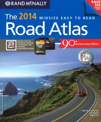 United States, Canada and Mexico 2014 Midsize Easy to Read Perfect Bound Atlas by Rand McNally