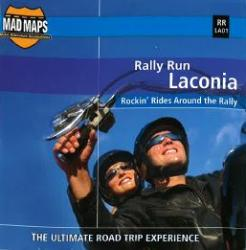 Mad Maps - Rally Run Road Trip Map - Laconia - RRLA01 by MAD Maps