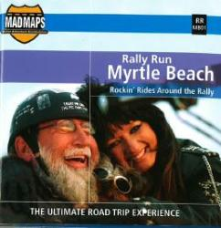 Mad Maps - Rally Run Road Trip Map - Myrtle Beach - RRMB01 by MAD Maps