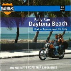 Mad Maps - Rally Run Road Trip Map - Daytona Beach - RRDB01 by MAD Maps