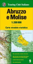 Abruzzo e Molise : carta stradale e turistica 1: 200 000 by Touring Club Italiano