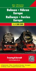 European Rail and Ferry Routes by Freytag-Berndt und Artaria