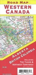 Alberta and British Columbia road map by GM Johnson