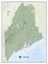 Maine Wall Map (30.25 x 40.5 inches) by National Geographic Maps