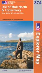 Isle of Mull North and Tobermory: Ulva, Staffa and Treshnish Isles by Ordnance Survey