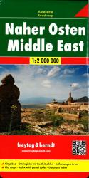 Middle East road map by Freytag, Berndt und Artaria