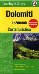 Dolomites, Tourist Map & Guide by Touring Club Italiano
