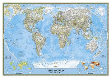 World, Classic, Sleeved by National Geographic Maps