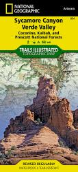 Sycamore Canyon and Verde Valley Wildnerness Areas, Map 854 by National Geographic Maps