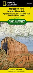 Mogollon Rim and Munds Mountain Wilderness Areas, Map 855 by National Geographic Maps
