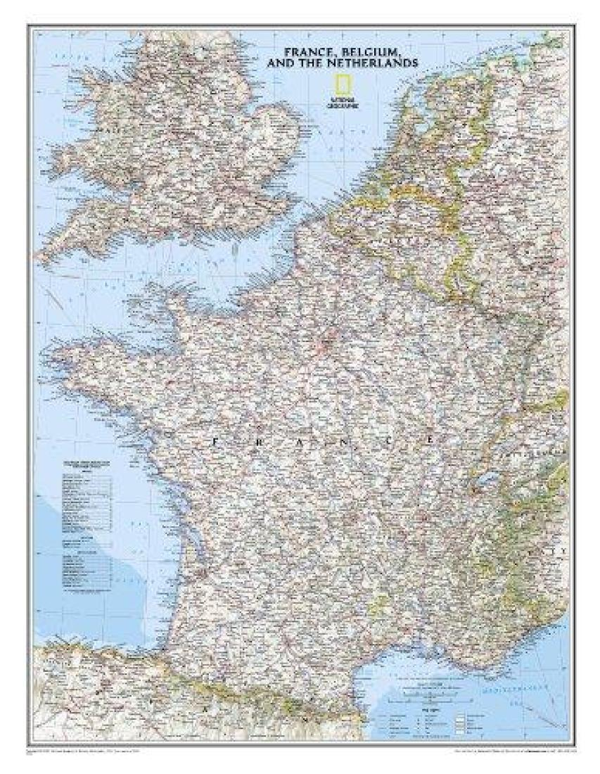 france belgium and the netherlands classic sleeved by national geographic maps