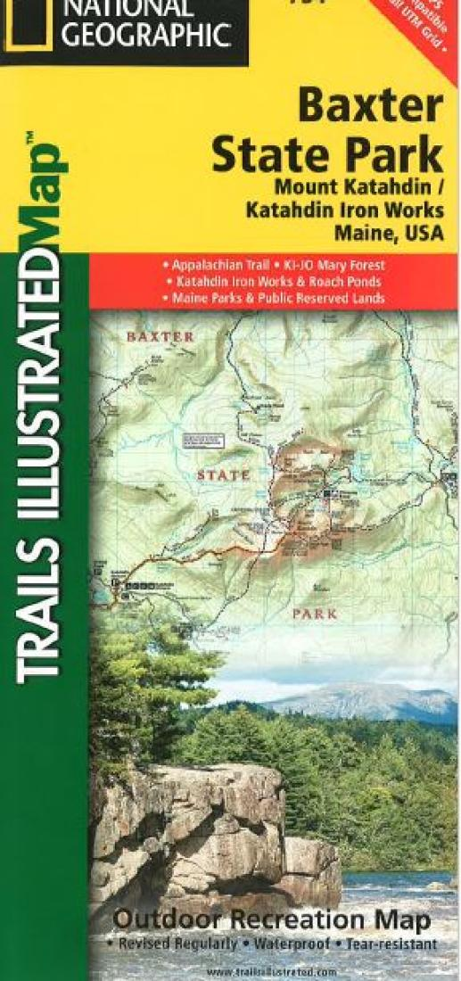 Baxter State Park & Mt. Katahdin, Maine, Map 754 by National ...