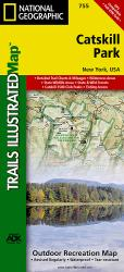 Catskill Park, New York, Map 755 by National Geographic Maps