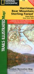 Harriman, Bear Mountain, Sterling Forest, NY, Map 756 by National Geographic Maps