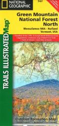 Green Mountains Nat'l Forest, Moosalamoo NRA-Rutland,  Map 747 by National Geographic Maps
