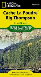 Cache La Poudre and Big Thompson, Colorado, Map 101 by National Geographic Maps