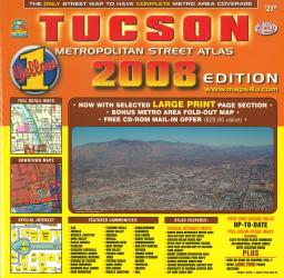 Tucson, Arizona Metropolitan Street Atlas by Wide World of Maps