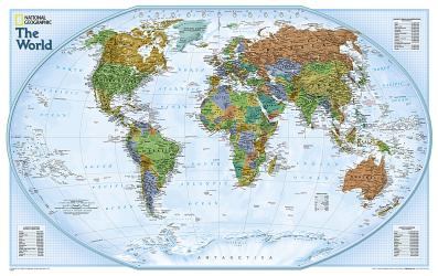 World, Explorer, Sleeved by National Geographic Maps