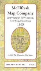 Gettysburg Battlefield by McElfresh Map Co.