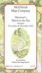 Sherman's March to the Sea by McElfresh Map Co.