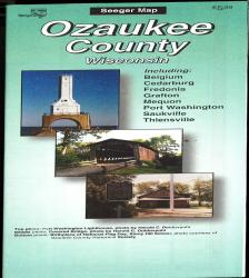 Ozaukee County, Wisconsin Road Map by The Seeger Map Company Inc.
