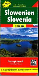 Slovenia, Road and Leisure Map by Freytag, Berndt und Artaria