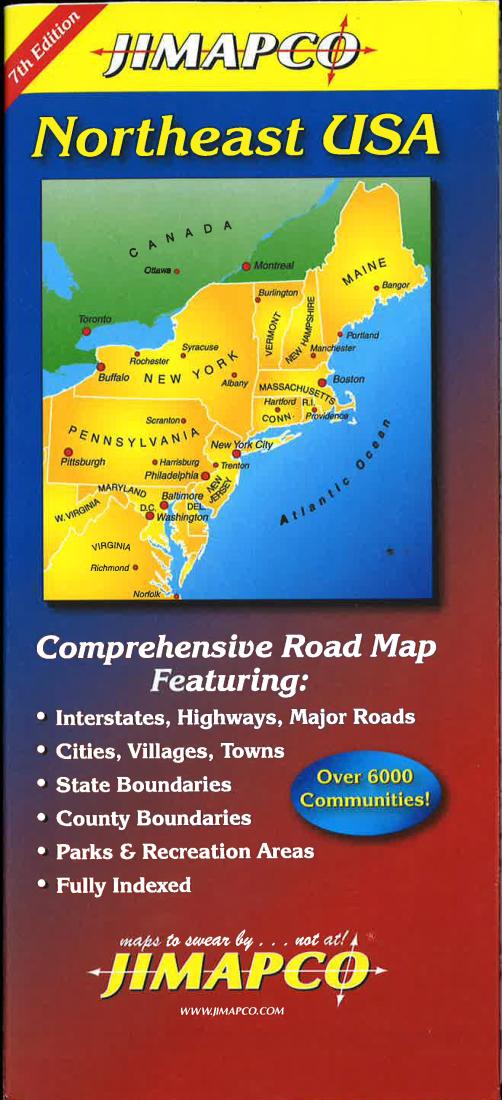 Northeast USA road map by Jimapco