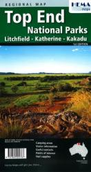 Top End National Parks, Australia with Litchfield, Katherine and Kakadu by Hema Maps