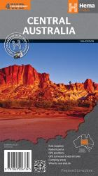 Central Australia, Australia by Hema Maps