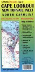 Cape Lookout & New Topsail Inlet Chart & Fishing Map by GMCO Maps & Charts