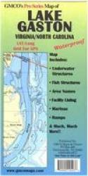 Lake Gaston Chart & Fishing Map by GMCO Maps & Charts
